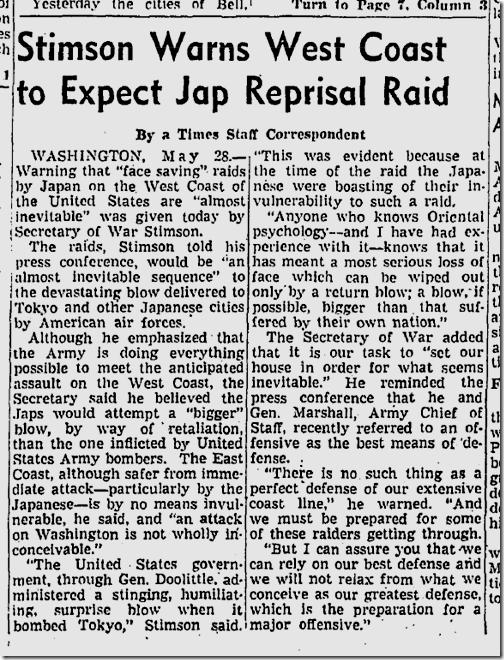 May 29, 1942, J