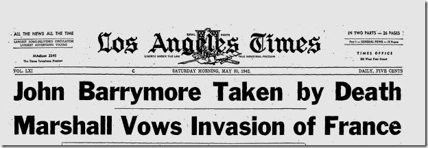 May 30, 1942, J