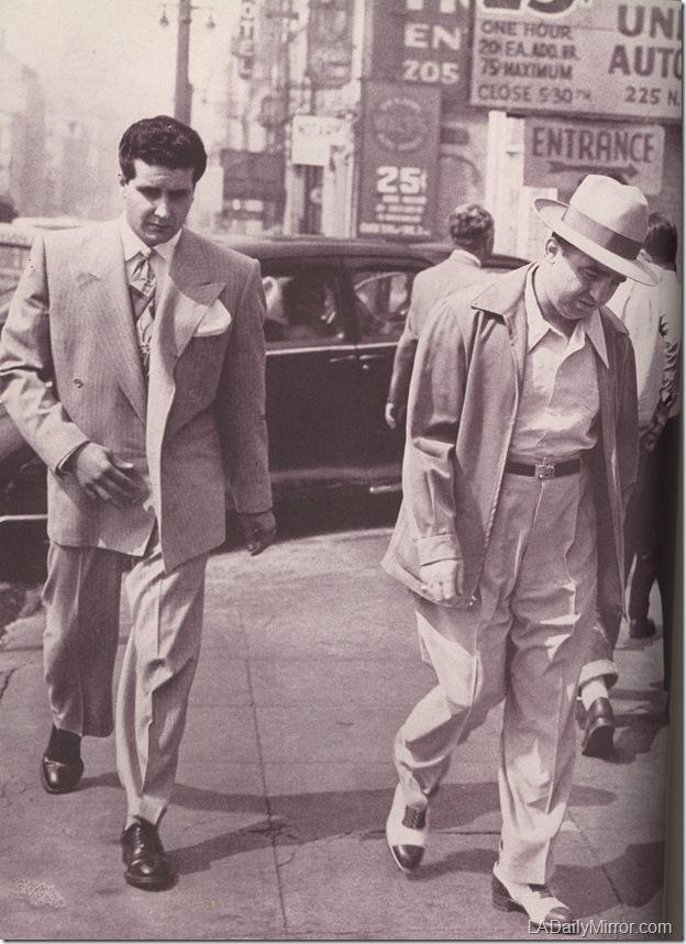 Johnny Stompanato and Mickey Cohen