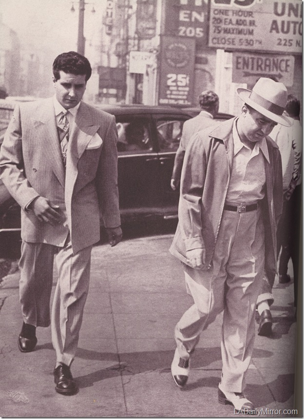 Johnny Stompanato and Mickey Cohen