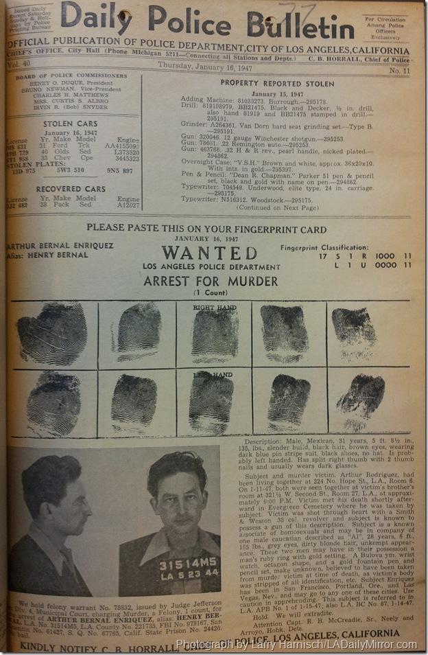 LAPD Bulletins