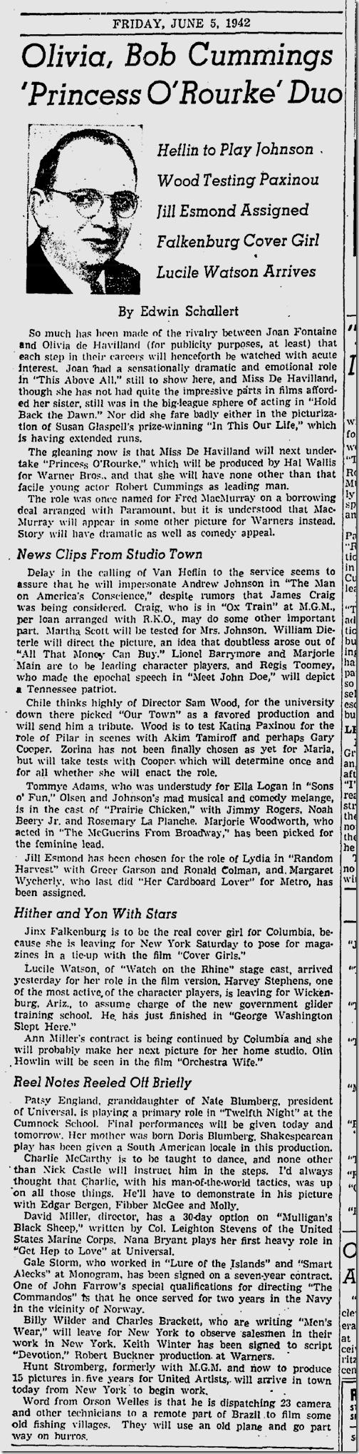 June 5, 1942, Edwin Schallert
