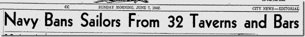 June 7, 1942, Off Limits