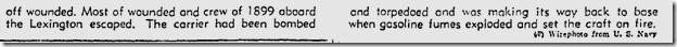 June 13, 1942, Sailors Abandon Lexington