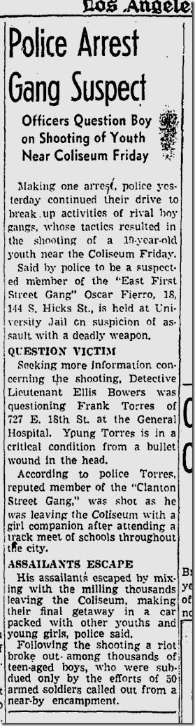 June 14, 1942, Gang Arrest