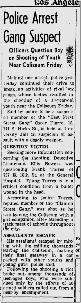 June 14, 1942, Gang Arrest