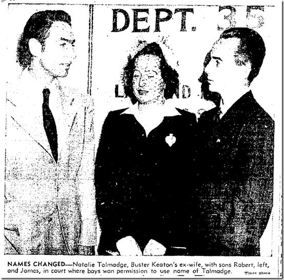 July 2, 1942, Keaton Children