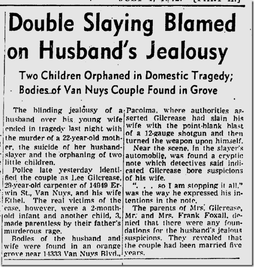 July 1, 1942, Murder-Suicide