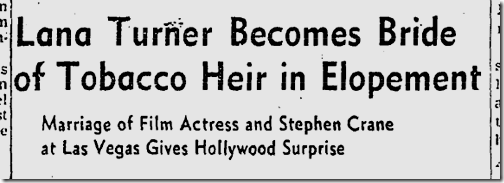 July 18, 1942, Lana Turner