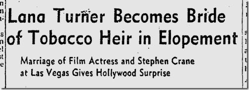 July 18, 1942, Lana Turner