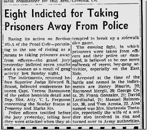 July 31, 1942, Gang Melee