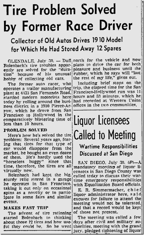 July 31, 1942, Pierce Arrow