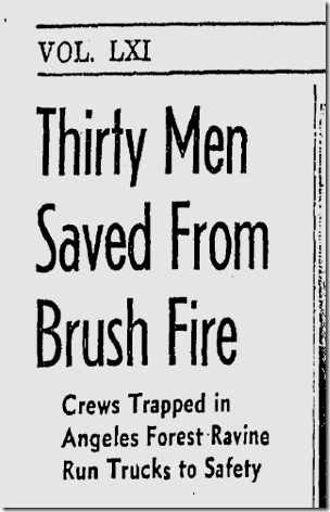 Aug. 24, 1942, Brush Fire