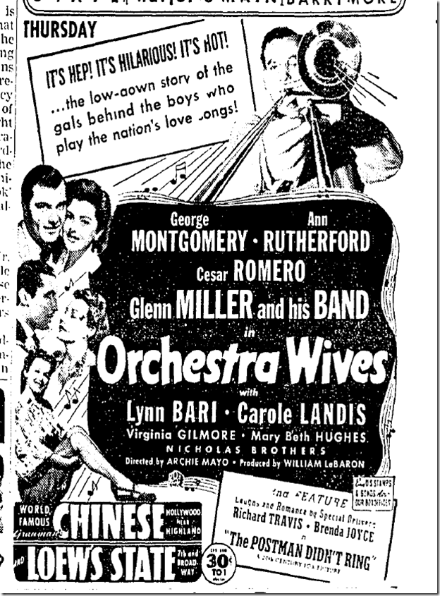 Aug. 24, 1942, Orchestra Wives
