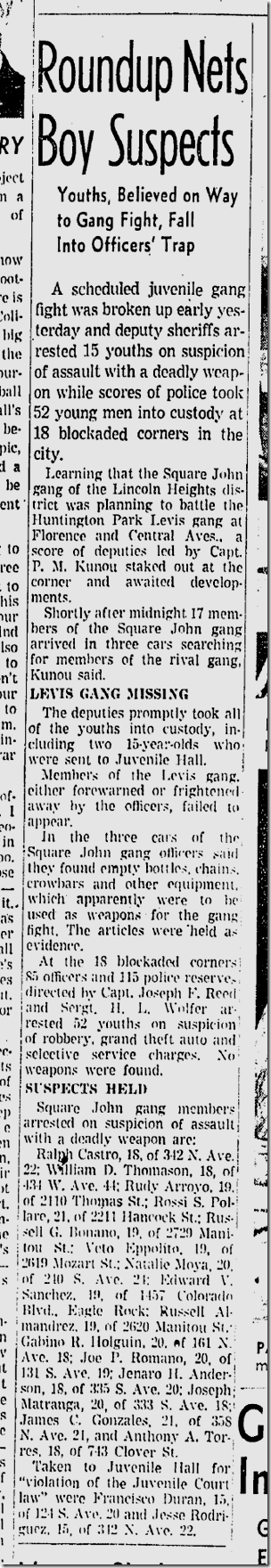 Aug. 24, 1942, Youth Gang