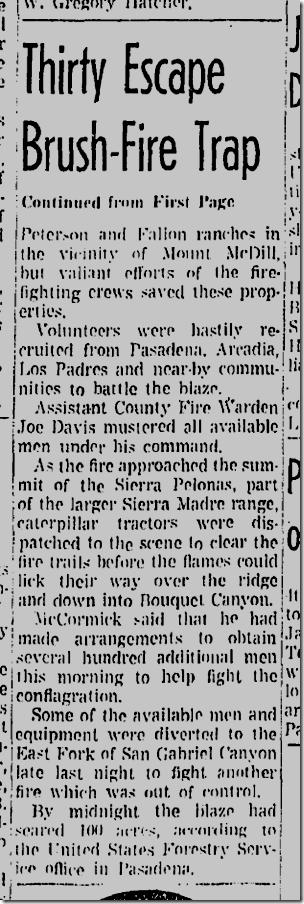 Aug. 24, 1942, Brush Fire