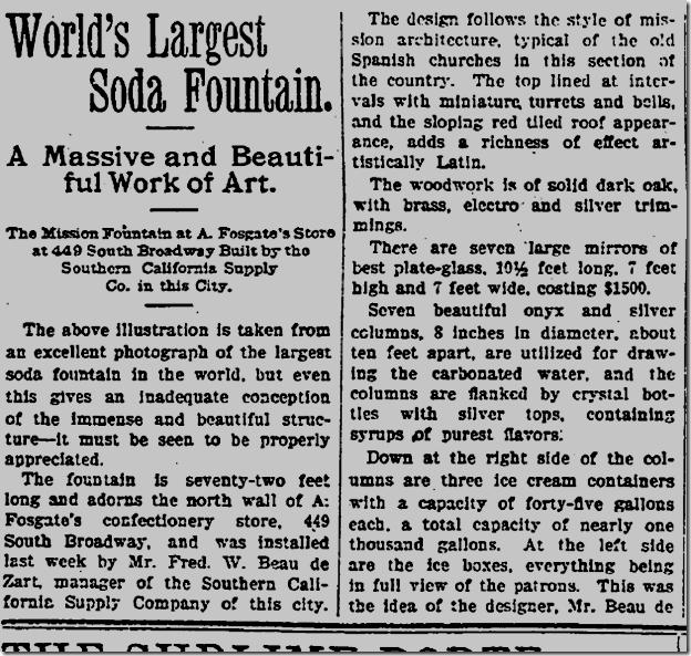 May 15, 1904, Soda Fountain
