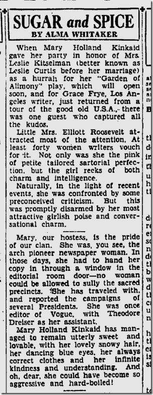 Sept. 6, 1933, Mary Holland Kinkaid