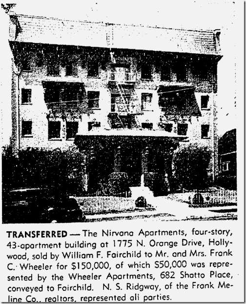 May 19, 1940, Nirvana Apartments