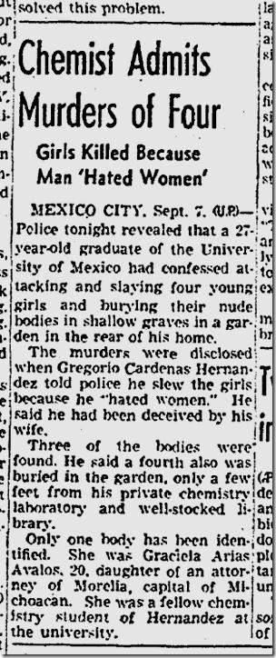 Sept. 8, 1942, Serial Killer