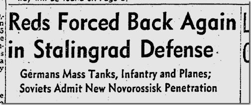 Sept. 9, 1942, Stalingrad