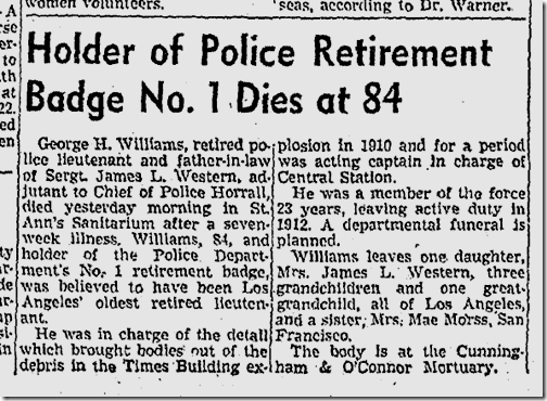 Sept. 13, 1942, Badge 1 Dies