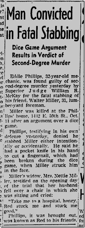 Dec. 18, 1942, Stabbing