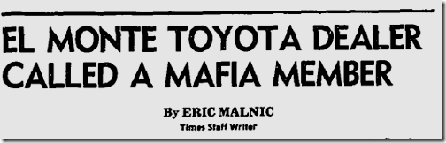 Oct. 17, 1980, Toyota Dealer Called Mafia Member