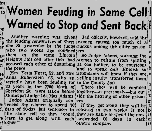 Oct. 24, 1942, Feuding neighbors