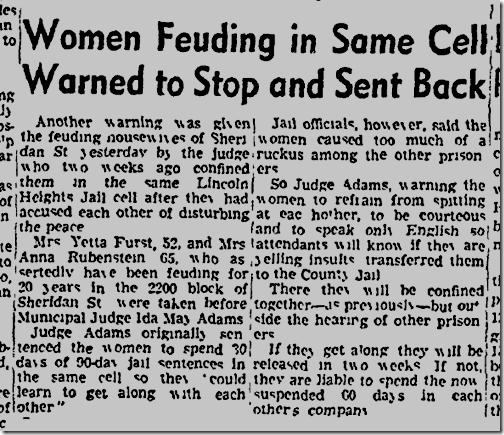 Oct. 24, 1942, Feuding neighbors