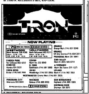 Oct. 25, 1982, Tron