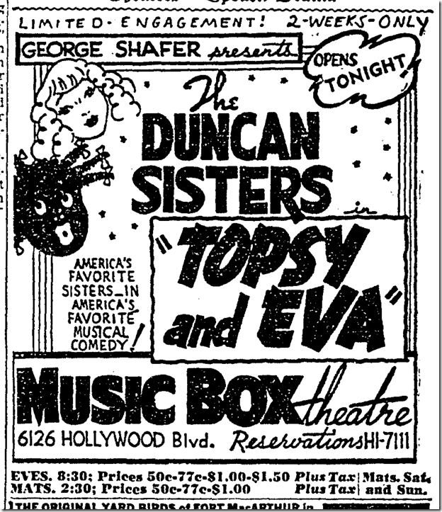 Oct. 26, 1942, Duncan Sisters