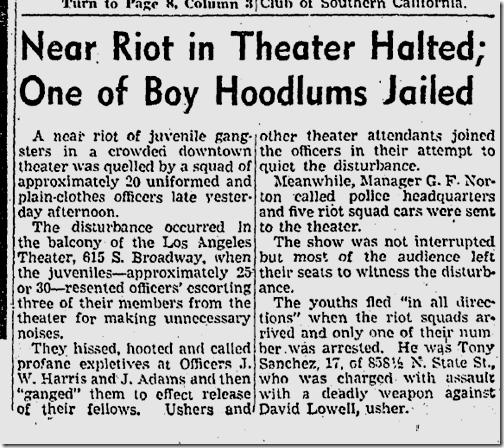 Oct. 26, 1942, Gang Riot