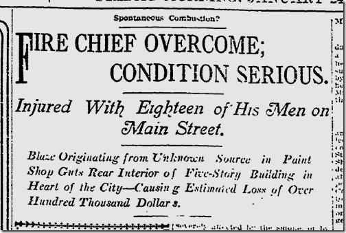Jan. 24, 1913, Hotel Fire