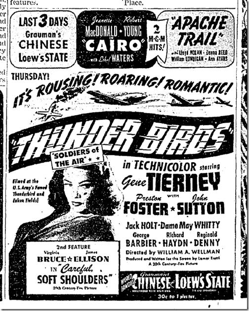 Nov. 2, 1942, Thunder Birds