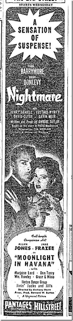 Nov. 30, 1942, Nightmare