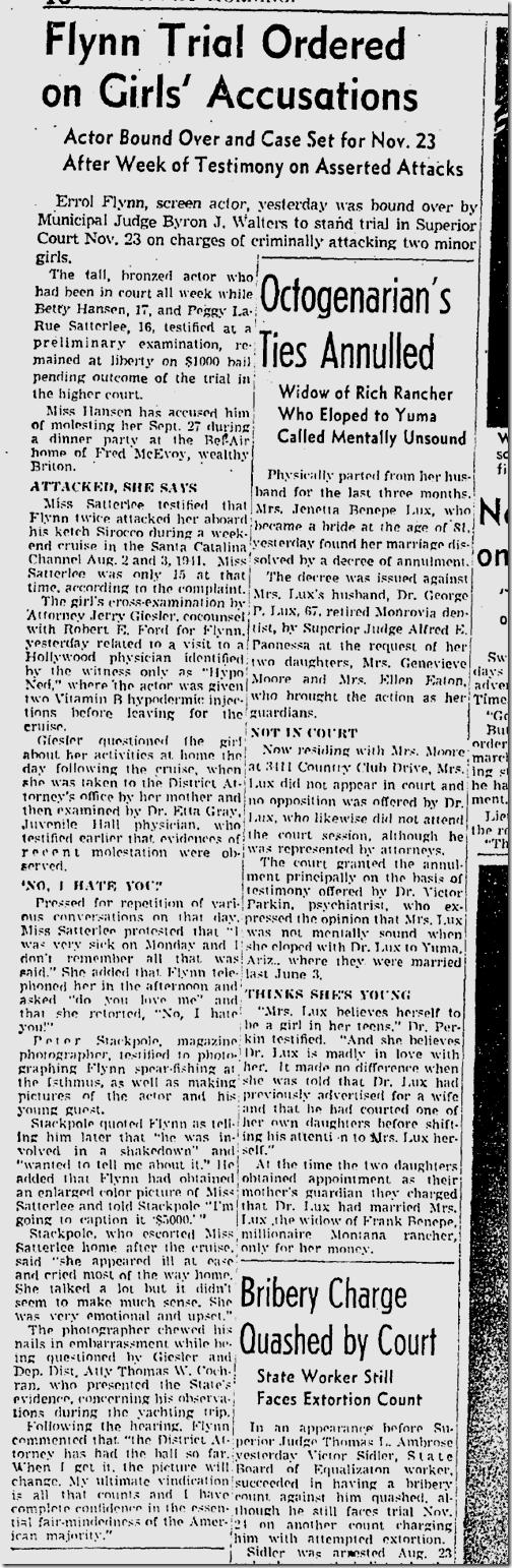 Nov. 7, 1942, Errol Flynn