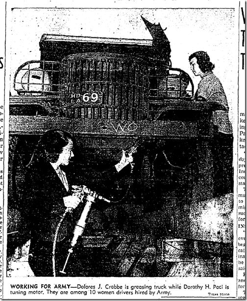 Nov. 2, 1942, Women Truck Drivers
