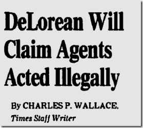 Nov. 9, 1982, DeLorean