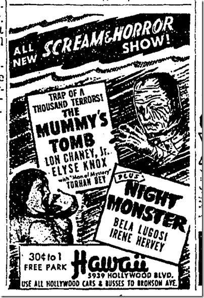 Dec. 13, 1942, Mummy's Tomb