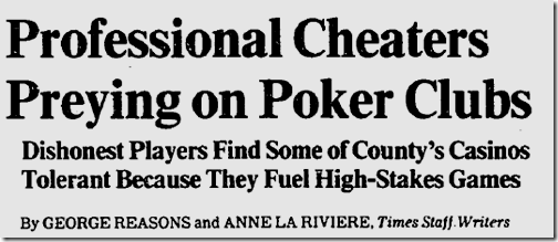 Dec. 5, 1982, Poker Cheats