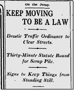 Dec. 14, 1912, Traffic
