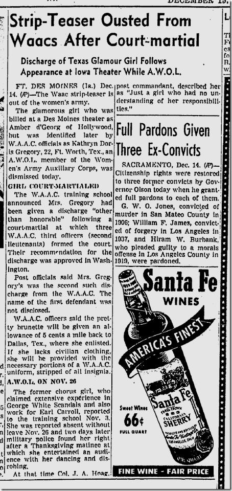 Dec. 15, 1942, Stripping Waac