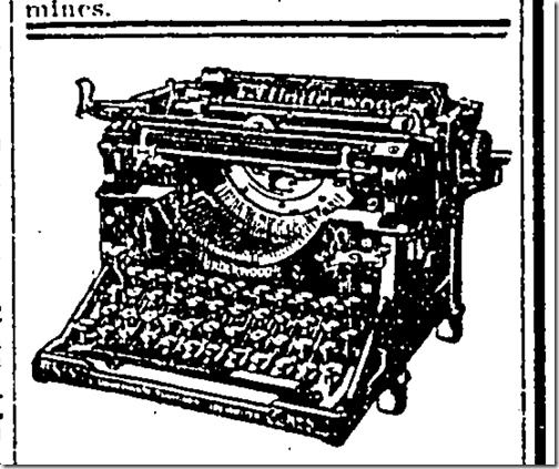 June 10, 1924, Underwood Typewriter