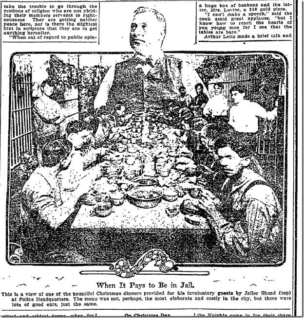 Dec. 26, 1912, Christmas in Jail