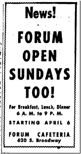 April 2, 1947, Cafeteria