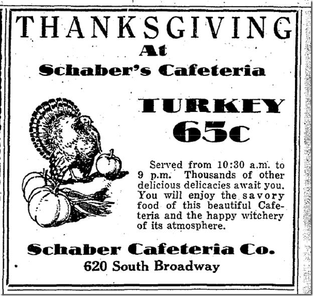 Nov. 26, 1930, Schaber's