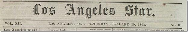 Jan. 10, 1863, Los Angeles Star