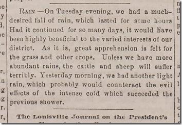 Jan. 24, 1863, Rain