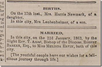 Jan. 24, 1863, Vitals